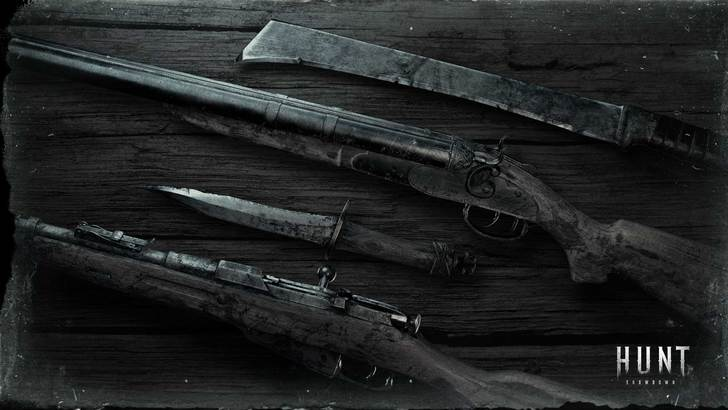 [1920x1080] Hunt: Showdown Weapon Desk Wallpaper